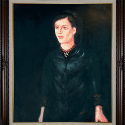 "overstockArt.com - Munch - Sister Inger Oil Painting - 20"" x 24"" Oil Painting On Canvas Hand painted oil reproduction of the Munch masterpiece, Sister Inger. The original painting was created in 1892. Today it has been carefully recreated detail-by-detail, color-by-color to near perfection. Norwegian by birth, Edvard Munch was one of the more gifted painters of our time. As a painter, Munch played a major role in the development of German Expressionism. Throughout his career, Munch's paintings and print work covered dark themes such as sickness, misery and death. His masterpiece, The Scream, remains as an icon of existential torment. This work of art has the same emotions and beauty as the original. Why not grace your home with this reproduced masterpiece? It is sure to bring many admirers!"