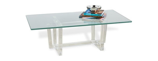 Interlude - Oris Cocktail Table - The Oris Cocktail Table brings the sophistication of acrylic into your room.