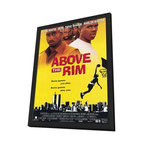 Above the Rim 11 x 17 Movie Poster - Style B - in Deluxe Wood Frame - Above the Rim 11 x 17 Movie Poster - Style B - in Deluxe Wood Frame.  Amazing movie poster, comes ready to hang, 11 x 17 inches poster size, and 13 x 19 inches in total size framed. Cast: Pinkins, Tonya