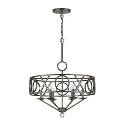 Crystorama Lighting - Crystorama Lighting 9246-EB Odette Transitional / Eclectic Chandelier - Crystorama Lighting 9246-EB Odette Transitional / Eclectic Chandelier in English Bronze