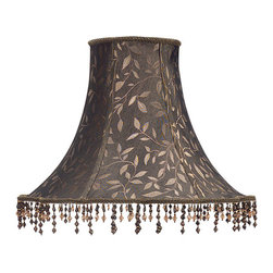 None - Cal Lighting Round Scalloped 17-inch Lamp Shade - From the family-owned premier lighting company of Cal Lighting,this bell shade is the perfect finishing touch for your table lamp. The shade measures 12 inches high.
