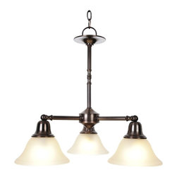 Premier - Three Light 22 inch Chandelier - Oil Rubbed Bronze - AF Lighting 617284 22in. W by 20in. H Sonoma Decorative Vanity Fixtures, 3 Light Chandelier, Oil Rubbed Bronze.