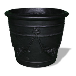 Amedeo Design, LLC - USA - Spanish Garland Planter - Our Spanish Garland Planter is simple yet elegant. Unique and highly durable, it can be a piece used almost any setting. Though they look like ancient European & Mediterranean designs in carved stone, our products are made of lightweight weatherproof ResinStone. So authentic, you actually have to lift these planters to convince yourself they're not stone at all! Made in USA.