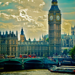 Big Ben And Red Buses-London, Fine Art Photography Print, 24X36 - This was taken in London Summer of 2012 during the Olympics. What an awesome city and AMAZING experience! Love the vintage feel of this pic with the pop of red the buses bring!