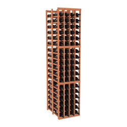 """Wine Racks America - 4 Column Double Deep Cellar in Redwood, (Unstained) - Stores 12 cases of wine using less than 18"""" of wall space. The high capacity double deep wine rack is a great starting point and addition to any wine cellar. Engineered for strength and designed for beauty; you'll cherish these racking systems for a long time. These features are guaranteed."""