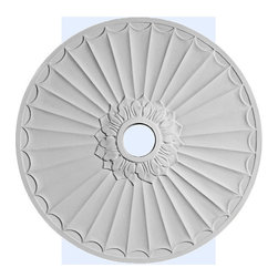 "Inviting Home - Salinas Ceiling Medallion - large ceiling medallion diameter - 29-3/8"" depth - 1"" hole diameter - 3-3/4"" decorative medallion Salinas decorative medallion for ceiling is classic reproduction of historical design. This medallion molded in deep relief design to achieve the highest degree of quality and details. Salinas decorative medallion giving you look and feel of plaster while it is much easier to install than plaster or gypsum due to the weight dimensional stability precise tolerances and flexibility. - ceiling medallion manufactured from high density furniture grade polyurethane. - decorative medallion is water and heat resistant impervious to insect infestation and odor free. - for installation of the ceiling medallion use specially formulated ceiling adhesive."