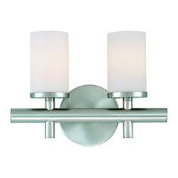 Dolan Designs - Dolan Designs 432-09 Alto 2Lt Bath Satin Nickel - Dolan Designs 432-09 Alto 2Lt Bath Satin Nickel