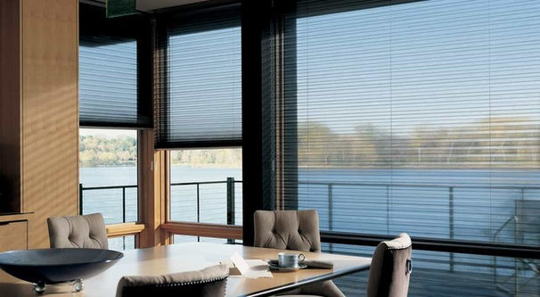 Contemporary Window Blinds by Hudson Street Design