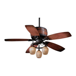 "Vaxcel - Vaxcel 52"" Cabernet Ceiling Fan - 52"" Cabernet Ceiling Fan Oil Burnished Bronze"