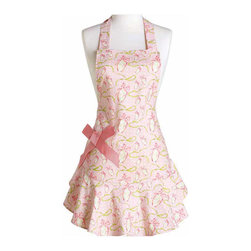 Jessie Steele - Jessie Steele Apron Easter Ribbon Egg Bib Josephine - Jessie Steele's kitchen accessories: This Charming Easter Ribbon apron features a delightful pink bow which accentuates this feminine smock.