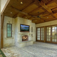 Traditional Fire Pits by MICHAEL MOLTHAN LUXURY HOMES
