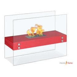 Moda Flame Avila Contemporary  Indoor Outdoor Ethanol Fireplace - Avila Contemporary  Indoor Outdoor Ethanol Fireplace