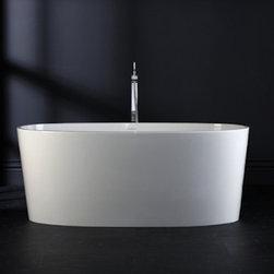 "IOS Bathtub - by Victoria + Albert. Dimensions: 59""L x 31 1/2""W x 23 5/8""H x 20 2/5""D. 150lb. Made from ENGLISHCAST."