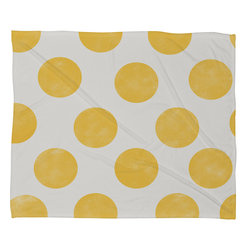 DENY Designs - Allyson Johnson Spring Yellow Dots Fleece Throw Blanket - This DENY fleece throw blanket may be the softest blanket ever! And we're not being overly dramatic here. In addition to being incredibly snuggly with it's plush fleece material, it's maching washable with no image fading. Plus, it comes in three different sizes: 80x60 (big enough for two), 60x50 (the fan favorite) and the 40x30. With all of these great features, we've found the perfect fleece blanket and an original gift! Full color front with white back. Custom printed in the USA for every order.
