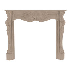 Pearl Mantel - The Deauville Fireplace Surround - Is it time to see your fireplace in a different light? Envision it framed by a highly decorative hardwood surround, that can be painted to reflect all the colors of your imagination. Of course, it comes beautifully finished as well, but the option to light your own creative fire is just a paintbrush away.