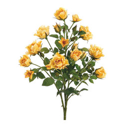 Silk Plants Direct - Silk Plants Direct Rose Bush (Pack of 12) - Yellow - Pack of 12. Silk Plants Direct specializes in manufacturing, design and supply of the most life-like, premium quality artificial plants, trees, flowers, arrangements, topiaries and containers for home, office and commercial use. Our Rose Bush includes the following: