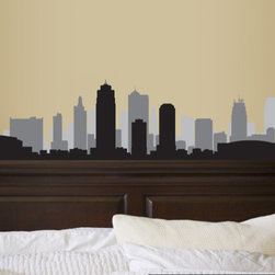 Kansas Missouri Skyline Vinyl Wall Decal or Car Sticker SS099EY; 120 in. - Vinyl Wall Decals are an AWESOME way to bring a room to life!