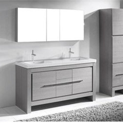 "Madeli - Madeli Vicenza 60"" Double Bathroom Vanity For X-Stone - Ash Grey - Madeli brings together a team with 25 years of combined experience, the newest production technologies, and reliable availability of it's products. Featuring sleek sophisticated lines Madeli vanities are also created with contemporary finishes and materials. Some vanities also feature Blum soft-close hardware. Madeli also includes a Limited 1 Year Warranty on Glass Vessels, Basin, and Counter Tops. Features Base vanity with two soft-close drawers and two soft-close doors Two interior pull-out traysAsh Grey finish Polished Chrome handle and leg finishX-Stone with overflow for a single-hole or 8"" widespread faucetFaucets and drains are not included Matching mirrors and medicine cabinet set available Limited 10 Year Warranty on X-Stone Tops How to handle your counter Spec Sheet Installation Instructions"
