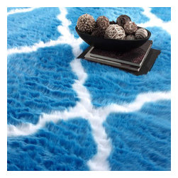 nuLOOM - Contemporary 5' x 8' Blue Machine Made Area Rug Faux Sheepskin Trellis - Made from the finest materials in the world and with the uttermost care, our rugs are a great addition to your home.