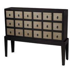 Sterling Industries - Capri Chest Drawer - Stylish and modern with an Asian influence this 18 drawer chest stand 43� high. Stylish and functional, a hiding place for the assorted bibelot!