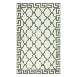 nuLOOM - 5'x8' White Hand Hooked Area Rug Cotton and Wool Trellis VST27 - Made from the finest materials in the world and with the uttermost care, our rugs are a great addition to your home.