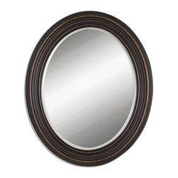 Uttermost - Uttermost 14610 Ovesca Dark Bronze w/ Gold Highlights Oval Mirror - Dark Oil Rubbed Bronze w/ Gold Highlights