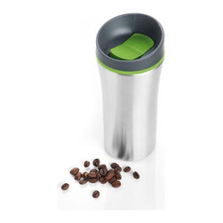 Blomus - Blomus 2GO Travel Mug - This travel mug allows you to transport your coffee or other beverages without spilling. Innovative spill resistant design makes it safe to throw in your bag without leaking.