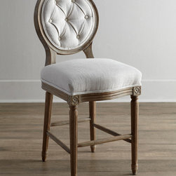 Teanna Stool - I would use this beautiful upholstered stool in an old-world, European-inspired kitchen.