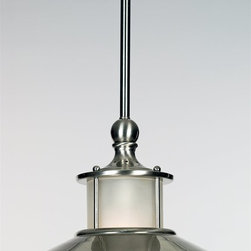 Quoizel - Quoizel NA1510BN New England Modern / Contemporary Mini Pendant Light - This collection gives a nod to timeless nautical style of the magnificent ocean liners of the 20's and 30's, but is updated for today's homes. A handsome classic that is always in fashion.