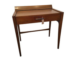 Pre-owned Kipp Stewart Drexel Profile Vanity - Get ready for your day at this Profile vanity by Drexel! Complete with a drawer to store all your knick knacks. Comes with a glass top not shown in photograph.     Conditon Details: very good vintage condition, only slight marks or scuffs.