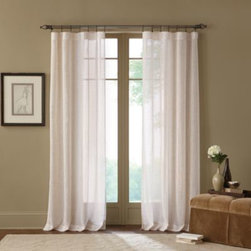 """Msg Marketing - Terra Natural Sheer Rod Pocket Window Curtain Panel - This beautiful, sheer panel can be used alone or as an under-treatment to another curtain. Hangs with a rod pocket and fits up to a 2"""" in diameter rod."""