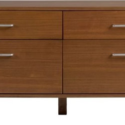 Walnut Low Dresser - This is a dresser, but I definitely think it could double as a media unit. Good storage space, low height, and hairpin legs make it a top contender.