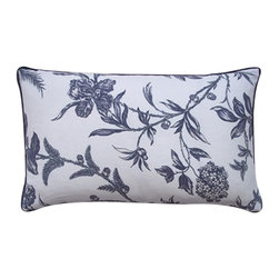 Jiti - Jiti Ivy Linen Pillow - Introduce a sophisticated air to any room's decor with this stunning throw pillow from Jiti. Nestled on the couch or lounging on the bed, this beautiful, pillow makes quite a statement with its eye catching floral design that seamlessly complements nearly any style.