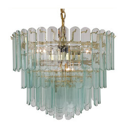 Triarch International - Triarch International 80005-CLR 9 Light Triple Tier Chandelier - Features: