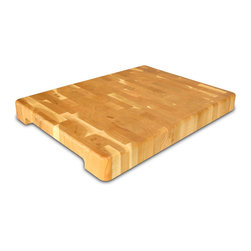 "Catskill Craftsmen - Catskill Contemporary End Grain Chopping Block - 1.75"" Thick - End-grain chopping block has handy finger slots for easy handling and non-slip rubber pad feet to keep it secure.  Perfect for chopping, slicing and dicing."
