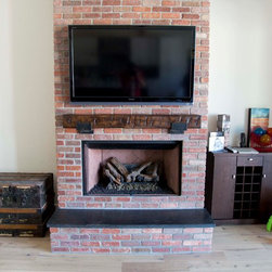 Mantle - Hand Hewn Pine Beam - -Front View-