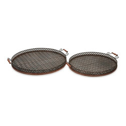 Regency Oversized Trays - Set of 2 - *Great for entertaining, the Regency oversized trays are perfect for an outdoor barbeque or party.
