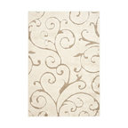 Safavieh - Shag Florida Shag 4'x6' Rectangle Cream - Beige Area Rug - The Florida Shag area rug Collection offers an affordable assortment of Shag stylings. Florida Shag features a blend of natural Cream - Beige color. Machine Made of Polypropylene the Florida Shag Collection is an intriguing compliment to any decor.