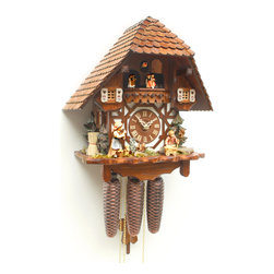 ROMBACH UND HASS - Cuckoo Clock Eight Day Musical Movement Rombach Und Hass with Animated Mandolin - Chalet-style Musical Cuckoo Clock