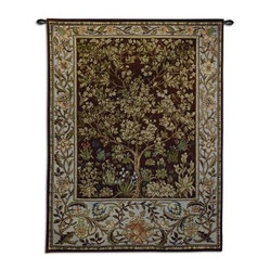 Tree of Life - Umber Wall Tapestry - 30W x 40H in.