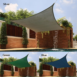 None - Medium Square Sail Silver Sun Shade - The perfect accessory for backyard picnics on hot summer days, this Sail Sun Shade boasts breathable fabric construction for significant temperature reduction to create your own shady oasis.