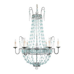 Arteriors Versailles Chandelier - Covered in beautiful, brightly colored sea glass, the Versailles Chandelier would be a stunning focal point in any room.