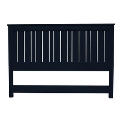 EuroLux Home - New King Bed Black Painted Hardwood Cottage - Product Details