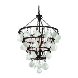 Troy Lighting - Troy Lighting F3825 Barista Single Tier Chandelier - Wrought Iron Single Tier Chandelier in Vintage Bronze from the Barista Collection by Troy Lighting.