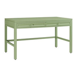 Martha Stewart Living - Martha Stewart Living™ Craft Space Table - Perfect for sewing, scrapbooking or other craft projects, the Martha Stewart Living™ Craft Space Table is the ultimate hobbyist's companion. Its large surface allows you to spread out projects and keep things organized. Drawers are perfect for commonly used tools and accessories. Place two back-to-back to create an extra large work island. The possibilities are endless.  Includes two deep drawers to keep your commonly used tools close at hand. Top surface has a scratch-resistant coating.