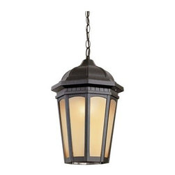 Trans Globe Lighting - Trans Globe Lighting Rustic Lodge Black Outdoor Hanging Light - Weather resistant cast aluminum. Decorative wall bracket and lantern. Open at bottom for easy bulb replacement. Includes 3' chain for hanging. Trans Globe Lighting is proud to be a leading manufacturer of residential lighting lamps and home decor since 1986. Born from the hopes and aspirations of two entrepreneurial spirits Trans Globe Lighting is a true testament to the American dream. Their company mission from the start was exceeding the industry standard in value style and selection. Today that mission remains stronger than ever.  In 2005 they expanded into a larger distribution facility in beautiful Valencia CA. This enables them to stock a steady on-hand inventory of over 3000 SKU's ranging from small outdoor porch lights to massive Bohemian crystal chandeliers. Features include Weather resistant cast aluminum Includes 3' chain for hanging adjustments Open at bottom for directional light and easy bulb access 8 window light frame in glowing tea stain glass Tuscan Italian outdoor lighting collection for rich accent lighting. Specifications Finish: Black Material: Cast Aluminum Glass Bulb Type: Medium - E-26 - E-27 - Type A Number Of Bulbs: 1 Watt Per Bulb: 60 Wattage: 60 Bulbs Included: No Suitable For: Outdoor use Ul Listed: WET Energy Saving: No.