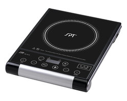 Sunpentown - Microcomputer Radiant Cooktop - Portable radiant cook top gives you convenience, durability and elegance. Radiant heat technology offers rapid heating with 8 power settings and is suitable with any type of cookware. Glass ceramic plate and and touch-sensitive control panel adds beauty to any kitchen and cooking environment.