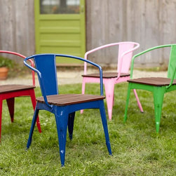 Metal and Wood Chair - Anything mini is magnificent. These seats are for the littles and they match the grown-up version. I'll take four, please!