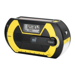 Oregon Scientific WR202 Digital Emergency Weather Radio - The Oregon Scientific WR202 Digital Emergency Weather Radio uses a hand crank to keep its LED flashlight, siren, and radio fully charged for any disaster. You'll have access to AM/FM, weather band channels, and 24/7 updates from the National Weather Service. Additional Features LED flashlight with beacon setting Emergency siren Digital alarm clock Comes with user manual About Oregon Scientific Oregon Scientific, Inc. is one of the world's leading designers and marketers of award-winning, upscale personal electronic products in the consumer electronics and toy industries. Exciting, cutting-edge technology coupled with fluid design is the hallmark of every Oregon Scientific product. The company offers five different families of products, all of which incorporate Oregon Scientific's advanced liquid-crystal display (LCD) technology for use at home, in business, while traveling, and during recreational time.