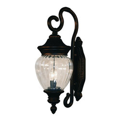 Z-Lite - Z-Lite Devonshire Outdoor X-GB-M6711 - Sophisticated and classic, this medium outdoor wall mount is a truly elegant piece. Comprised of cast aluminum (which can endure all seasons), this fixture uses clear beveled glass a combination with a fixture that is highly detailed and finished in black gold, to create a tribute to classic elegance. Select parts of this fixture are hand cast in order to ensure the overall strength of this wonderful fixture.